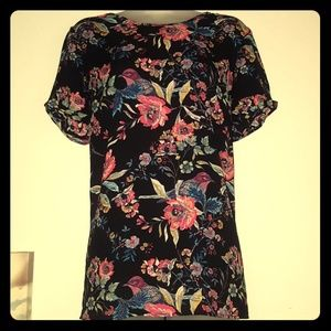 NWT blouse with Bird and Floral Print by DR 2